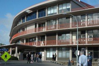 An external view of the Mersey hospital in Devonport, Tasmania.